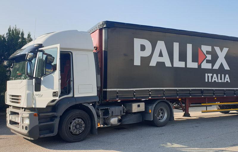 DVB logistik furgone Pallex Italia